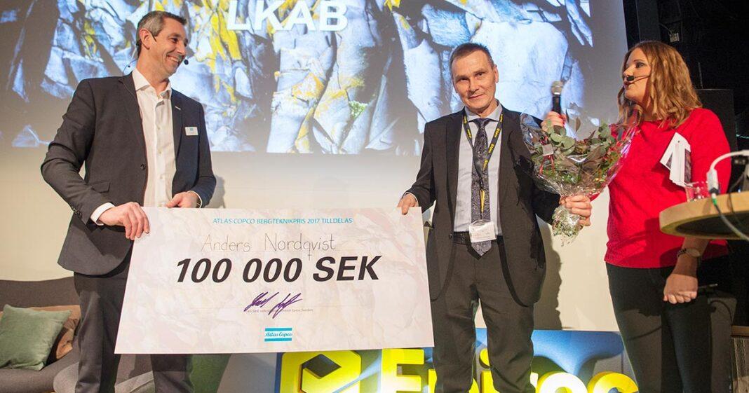 Anders Nordqvist fick Bergteknikpriset 2017