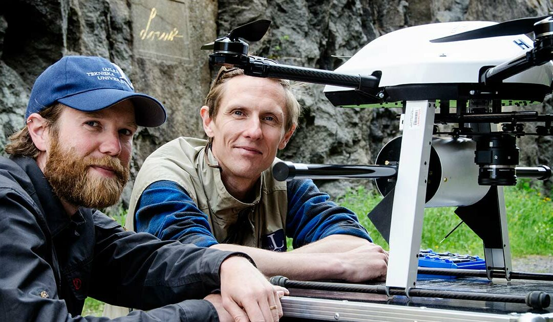 Drönare från LTU kartlägger Sveriges geologi