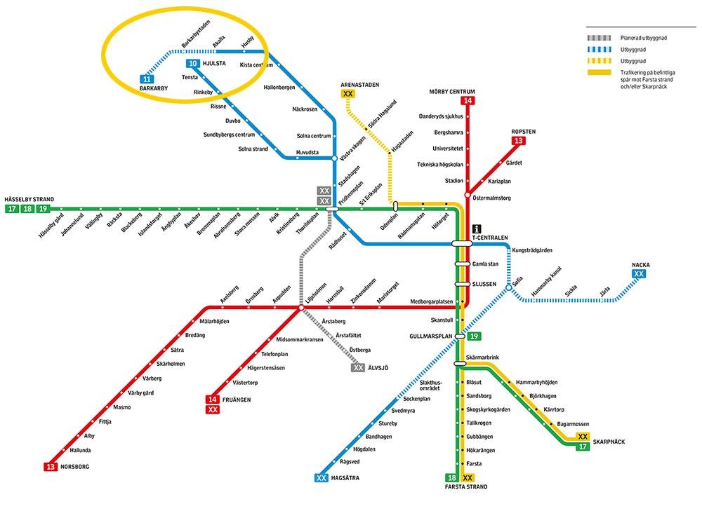 Nya tunnelbanan - karta