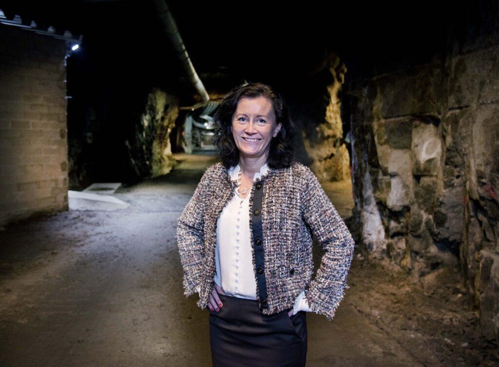 Epirocs nya vd Helena Hedblom i Sickla gruva