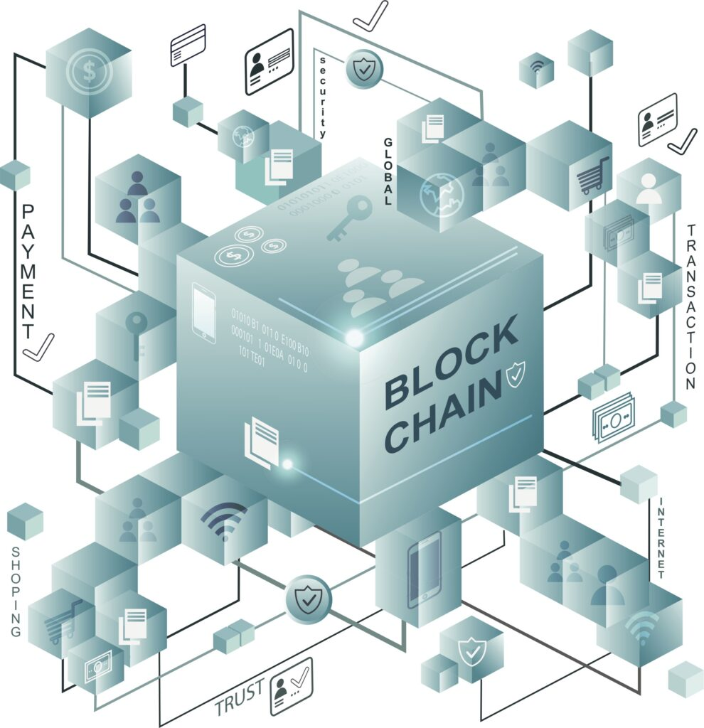 Illustration av blockchain