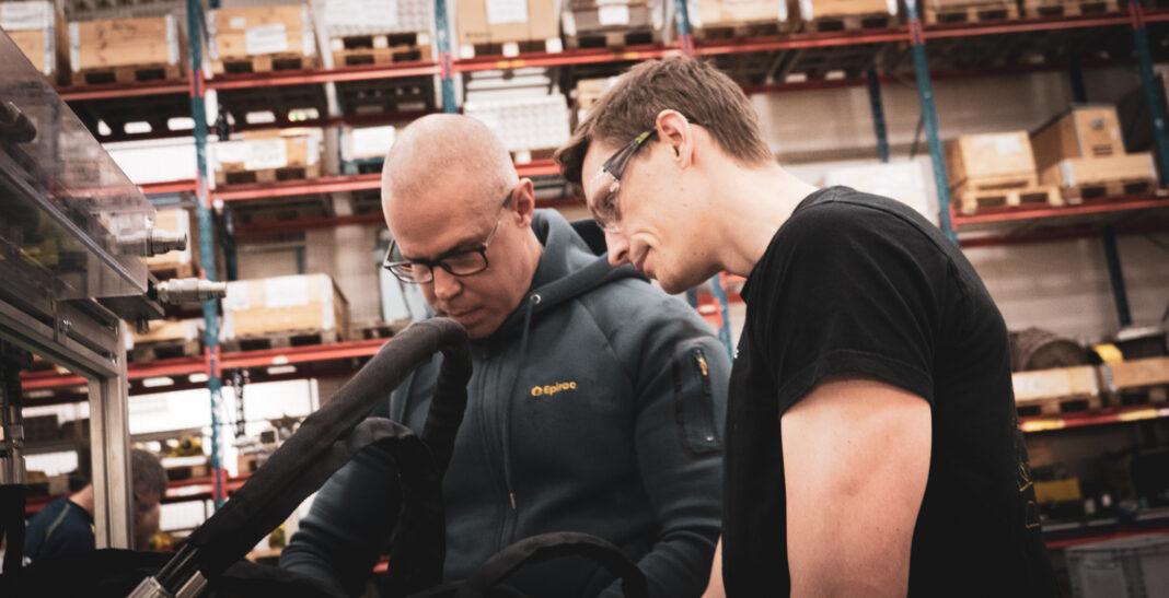 Marcus Östlid och Linus från Epiroc