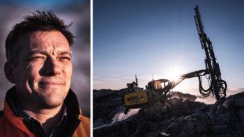 munch engineering bygger flygplatser på Grönland med borriggar från Epiroc